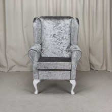 Small Westoe Armchair in a Bling Pewter Fabric