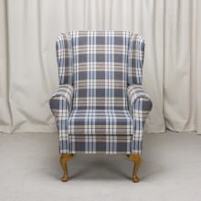 Small Westoe Armchair in a Kintyre Chambray Fabric
