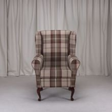 Small Westoe Armchair in a Balmoral Mulberry Fabric