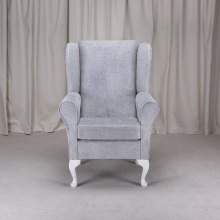 Small Westoe Armchair in a Oleandro Silver OLE1428 Fabric