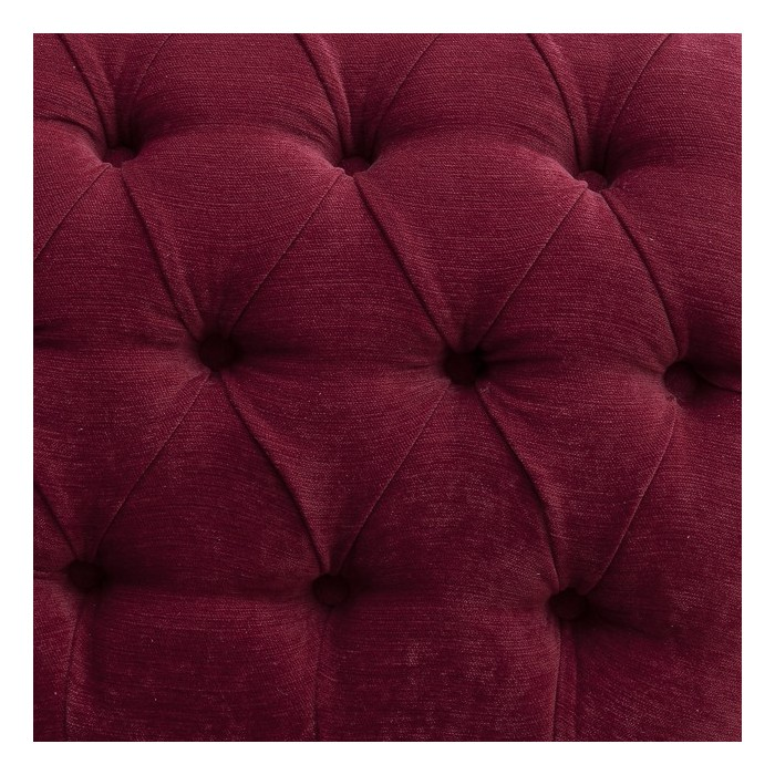 "52"" Buttoned & Studded Classic Style Crush Wine Red Fabric"