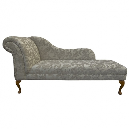 "66"" Classic Style Chaise Longue in a Fawn Fortuna Fabric - Fort106"