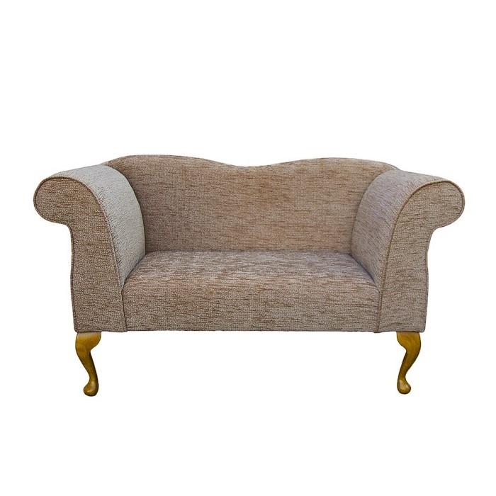 Small Chaise Sofa in a Portobello Boucle Blush Fabric - 15740
