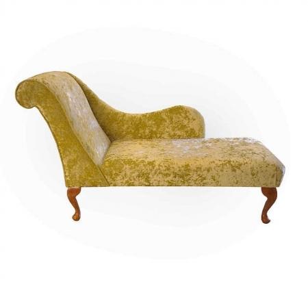 "54"" Monaco Chaise Longue in a Chartreuse Senso Fabric - sens1182"