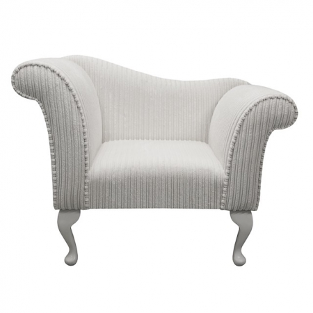Designer Chaise Chair in a Chalk Jumbo Fabric - 16115