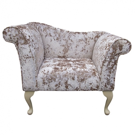Designer Chaise Chair in a Lustro Opal Fabric - LUS1303