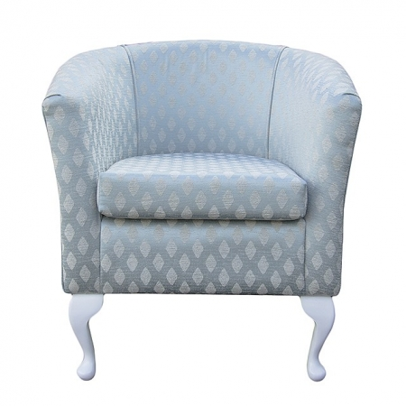 Designer Tub Chair in a Conway Duck Egg Blue Fabric - 13134
