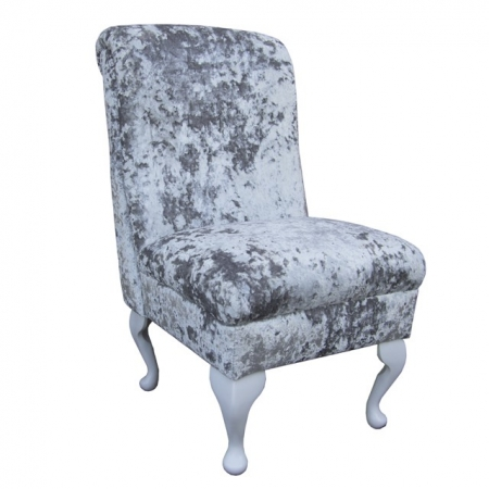 Bedroom Chair in a Lustro Argent Chenille Fabric - LUS1315