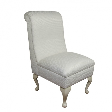 Bedroom Chair in an Oyster Diamond Chenille Fabric -17084