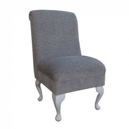 Bedroom Chair in a Silver Nastro Fabric - NAS610