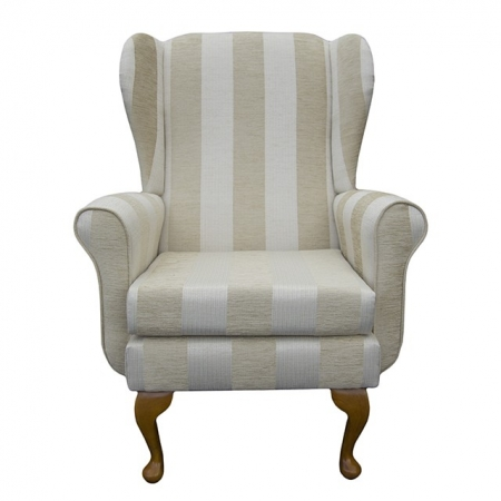 Balmoral Chair in a Woburn Beige Stripe Fabric - 17062