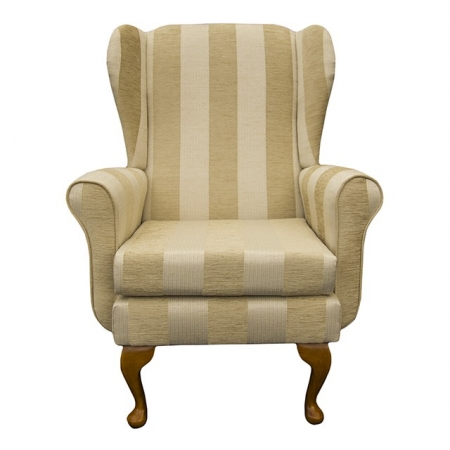Balmoral Chair in a Woburn Gold Stripe Fabric - 17060