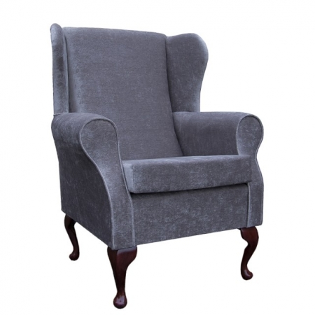 Medium Wingback Fireside Westoe Chair in a Westoe in a Dusk Velluto Fabric - VEL224