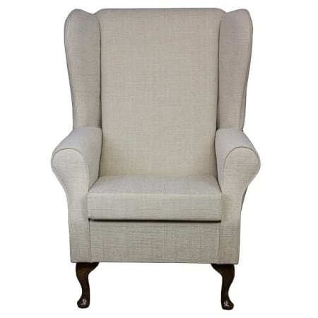 High Back Westoe Wingchair in a Kenton Slub Cream - 13751