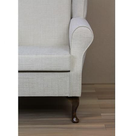 High Back Westoe Wingchair in a Kenton Slub Cream - 13751