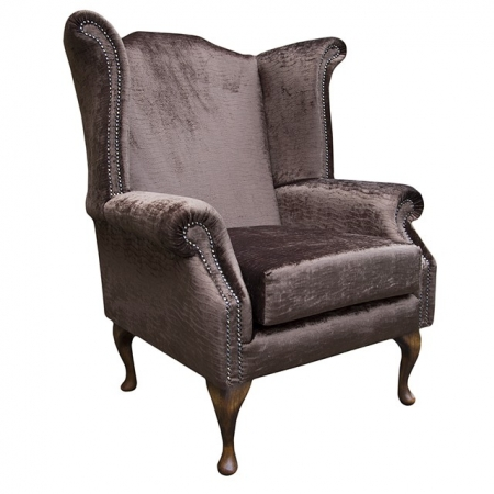 Armchair in a Conker Brown Fantasia Rippled Chenille fabric - FANT102