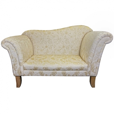 Large Chaise Sofa in a Gold Floral Fabric - BAR60