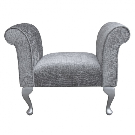 Compact Settle in a Steel Pebble Chenille Fabric - DUN309