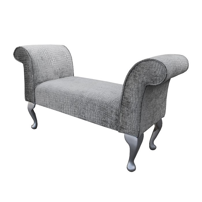 Standard Settle in a Steel Pebble Chenille Fabric - DUN309