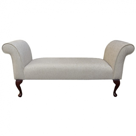 Medium Settle in a Diamante Light Cream Fabric - DB31
