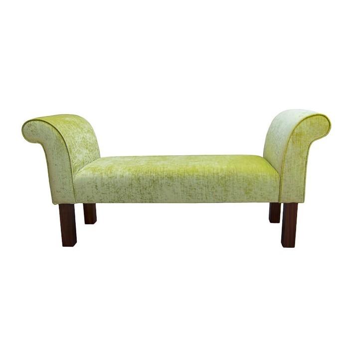 Medium Settle in a Pastiche Slub Lime Fabric - 18020