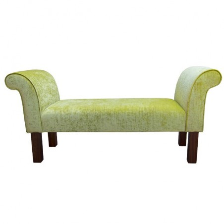 Medium Settle in a Pastiche Slub Lime Fabric - 18020