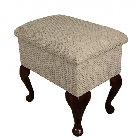 Small Dressing Table Stool in a Dimble Stable Fabric - 16133