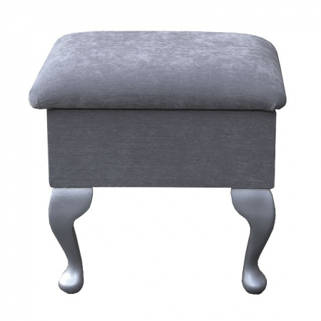 Small Dressing Table Stool in a Grey Pimlico Fabric - 16168