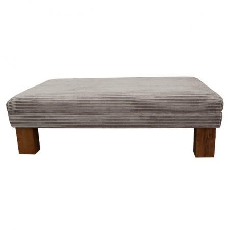 Extra Large Footstool in a Jumbo Mink Luxury Velvet Fabric - 16101