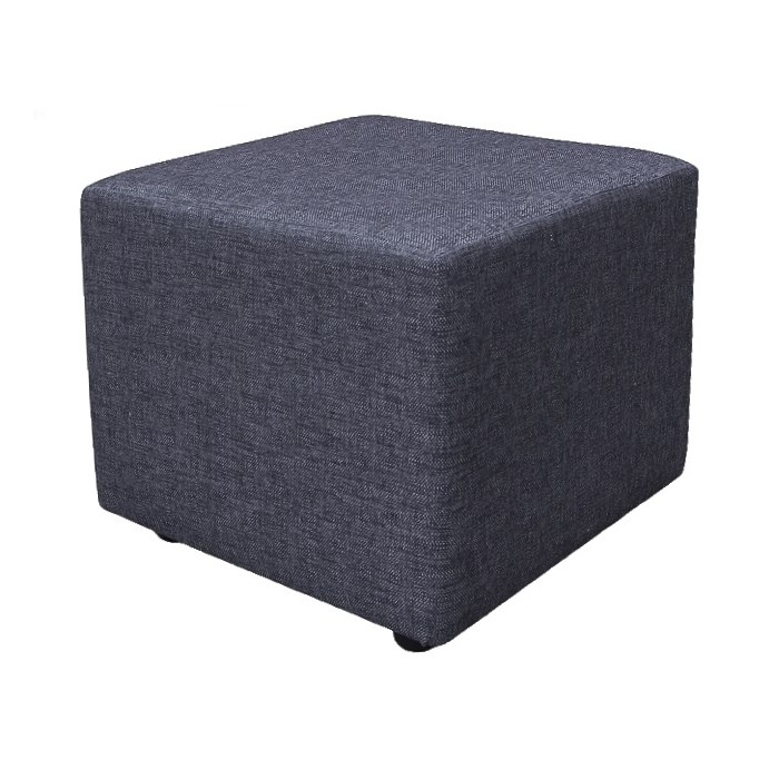 Pouffe in a Charcoal Grey Fabric - ANC1115