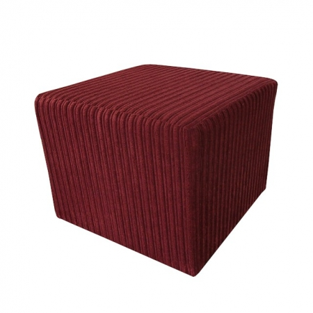 Pouffe in a Jumbo Cord Henna / Red Fabric - 16111