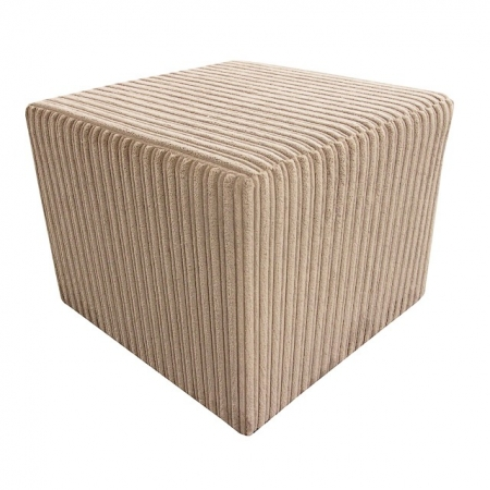 Pouffe in a Jumbo Cord Sable Fabric - 16104