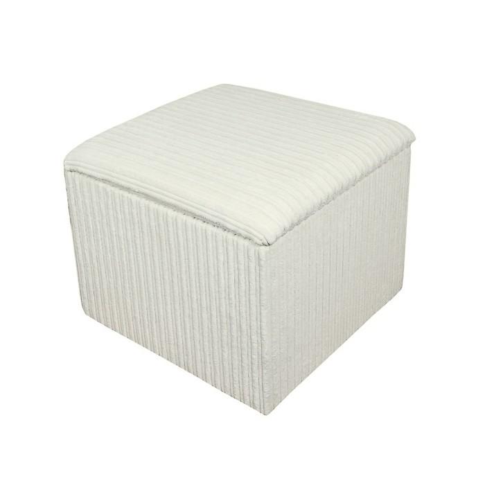 Storage Box / Footstool in a Jumbo Cord Chalk Fabric - 16115