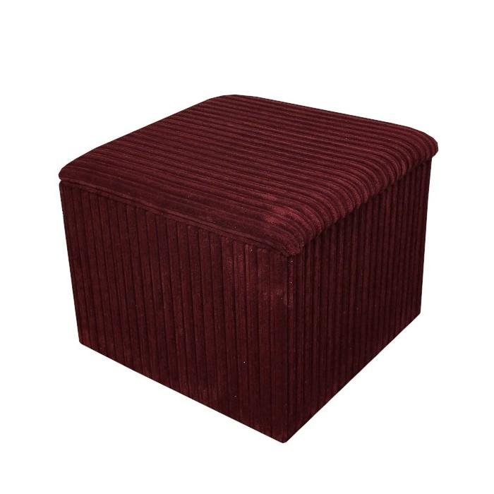 Storage Box / Footstool in a Jumbo Cord Henna Fabric - 16111
