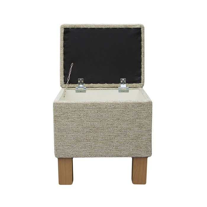 Sewing Box in a Caledonian Textured Plain Mint fabric with Hardwood Legs - 15214