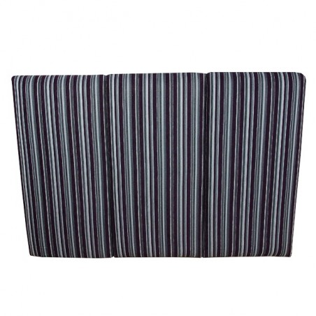 King Size 5 ft Headboard in a Purple & Grey Stripe Diamante Fabric