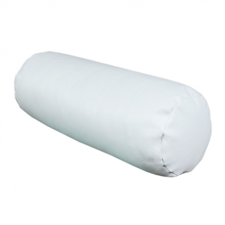 "Bolster Cushion for 41"" Chaise in a white faux leather fabric"