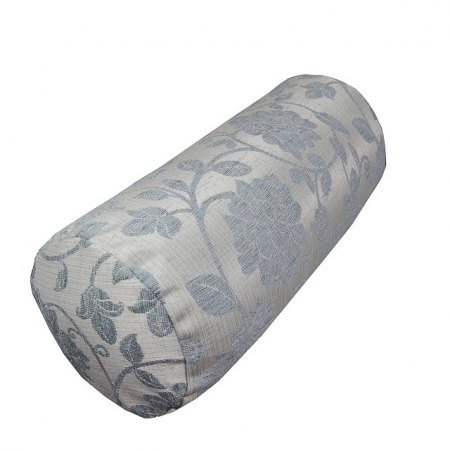 Bolster Cushion in a Woburn Floral Blue Fabric - 17071
