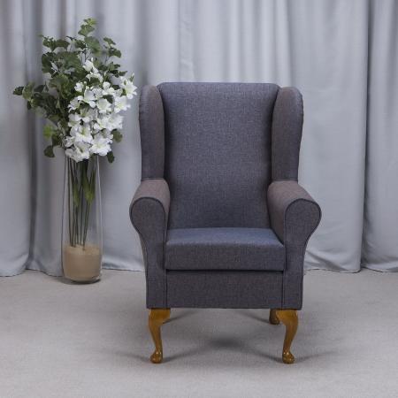 Westoe Armchair in a Arran Blue Fabric - Arran Blue