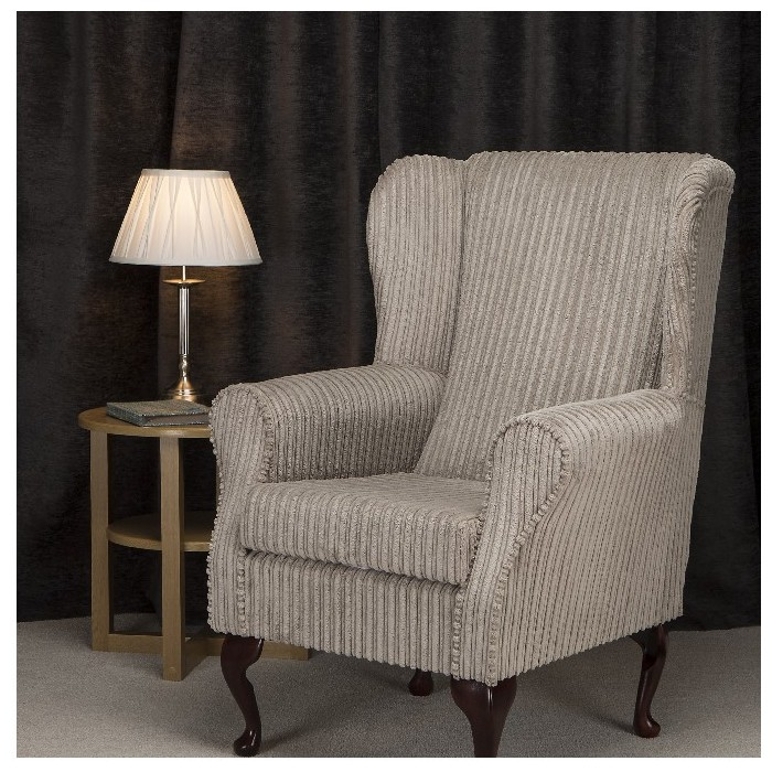 Westoe Chair in a Mink Jumbo Cord Fabric - 16101