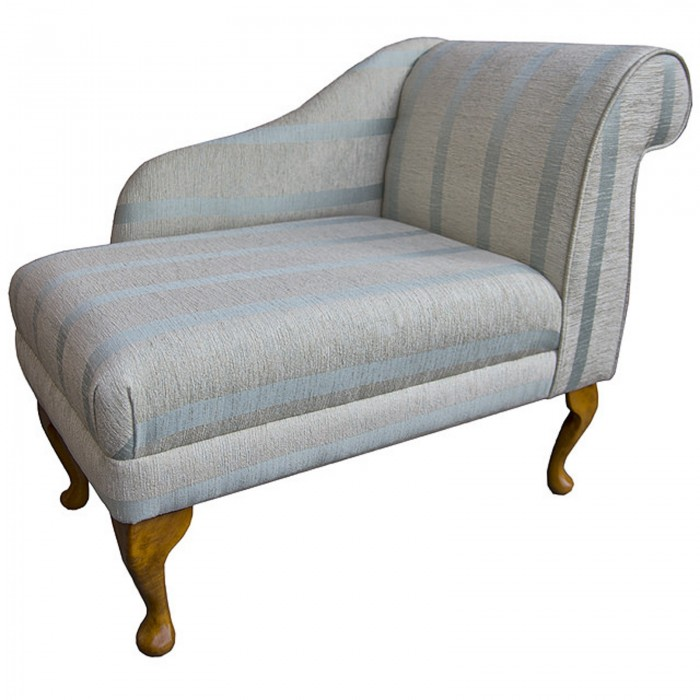 "36"" Compact Chaise in a Conway Duck Egg Blue Fabric - 13114"