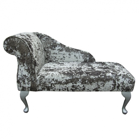 "41"" Mini Chaise Longue in a Lustro Mercury Fabric - LUS1316"