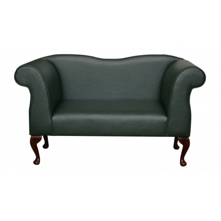 Small Chaise Sofa in a Bottle Green Porto Faux Leather - 14391