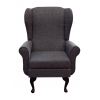 Balmoral Chair in a Grey Atlanta Fabric - Atlanta95