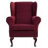 Westoe Chair in a Portobello Boucle Claret Fabric - 12032