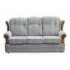 3 Seater Verona Sofa in a Maida Vale Broadstripe and Plain Grey Fabric