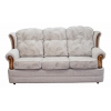 3 Seater Verona Sofa in a Maida Vale Floral and Plain Linen Fabric