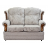 2 Seater Verona Sofa in a Maida Vale Floral and Plain Linen Fabric