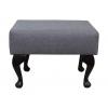 Small Footstool in a Grey Sawana 21 Fabric