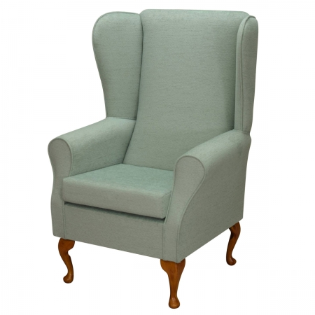 Large Highback Westoe Chair in a Kenton Duck Egg Fabric